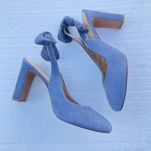 Banana Republic Suede  Slingback Bow Heels